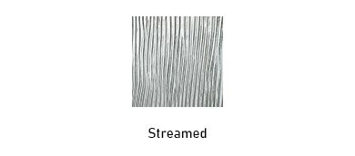 Streamed glass texture options