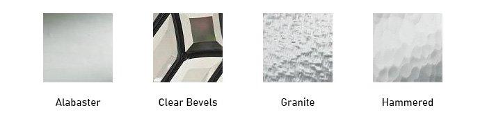 Tierna glass texture options