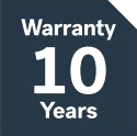 10 years warranty on integrated blinds