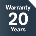 20 years warranty on low-e glass unit
