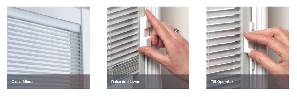 Mini-blinds for the Pacific patio door