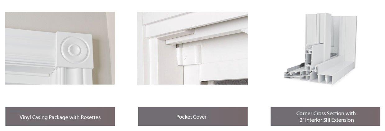 The Pacific patio door vinyl options